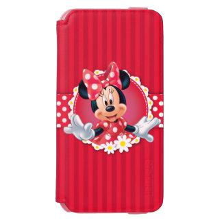 Marco de la flor de Minnie Funda Cartera Para iPhone 6 Watson