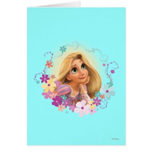 Marco de la flor de Rapunzel Tarjeta De Felicitación