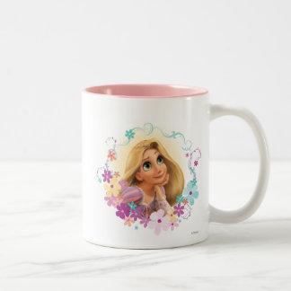 Marco de la flor de Rapunzel Taza De Café De Dos Colores