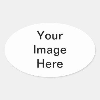 marco de la flor pegatina ovalada