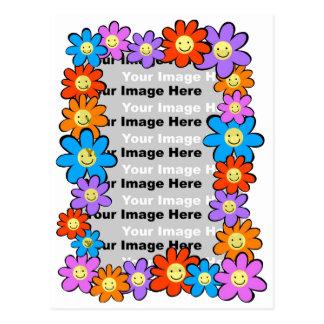 Marco de la flor tarjeta postal