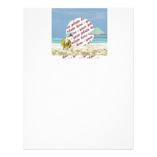 """Marco de la foto de la escena de la playa del gans folleto 8.5"""" x 11"""""""