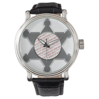 Marco de la foto de la estrella de la lata del relojes de pulsera