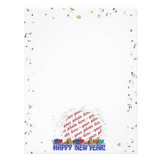 Marco de la foto de la Feliz Año Nuevo Tarjetas Publicitarias