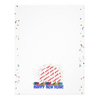 Marco de la foto de la Feliz Año Nuevo Membrete