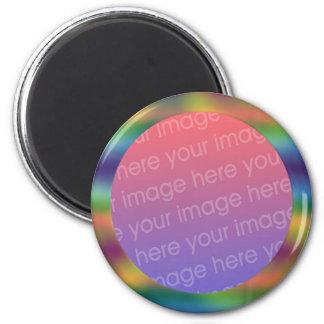 marco de la foto de la pendiente del arco iris imán de frigorifico