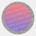 marco de la foto de la placa del diamante pegatina