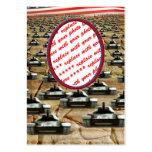 Marco de la foto de los muchos tanques tarjeta personal