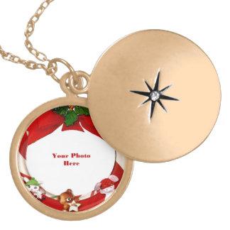 Marco de la foto de los ornamentos del navidad grimpola