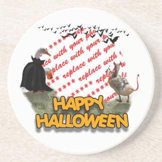 Marco de la foto de los patos de Halloween del Posavasos Personalizados