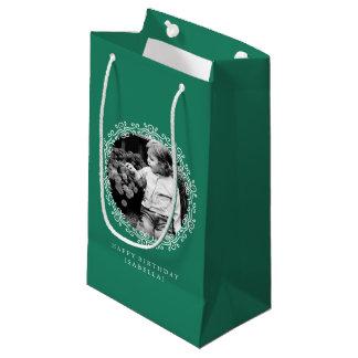 Marco de la foto de los remolinos de la suposición bolsa de regalo pequeña