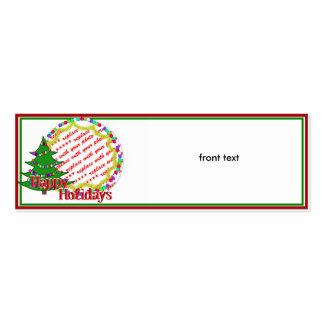 Marco de la foto del árbol de navidad del dibujo a plantillas de tarjetas personales