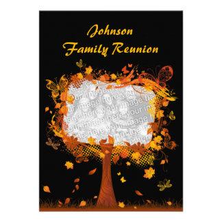 Marco de la foto del árbol del otoño de la reunión