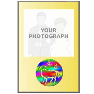 Marco de la foto del arco iris del color de la fotoescultura vertical