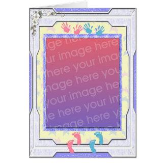 Marco de la foto del bebé tarjeta de felicitación