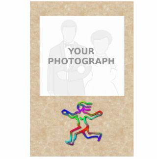 Marco de la foto del chica del arco iris de la fotoescultura vertical