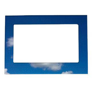 Marco de la foto del cielo azul marcos magnéticos