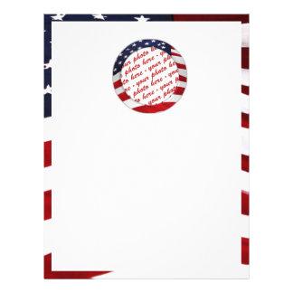 Marco de la foto del círculo de la bandera america tarjetas publicitarias