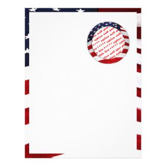 Marco de la foto del círculo de la bandera america membrete
