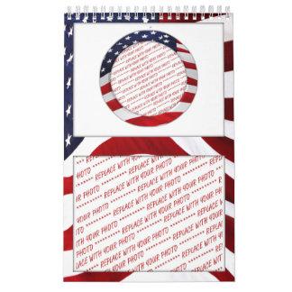 Marco de la foto del círculo de la bandera calendarios