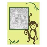 Marco de la foto del cumpleaños del mono postal