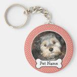 Marco de la foto del hueso de perro y del mascota  llavero personalizado