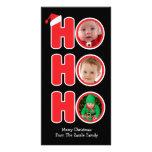 Marco de la foto del navidad de Santas Ho Ho Ho Tarjetas Personales Con Fotos