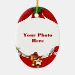 Marco de la foto del navidad ornaments para arbol de navidad