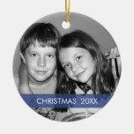 Marco de la foto del navidad - moderno ornamento para arbol de navidad