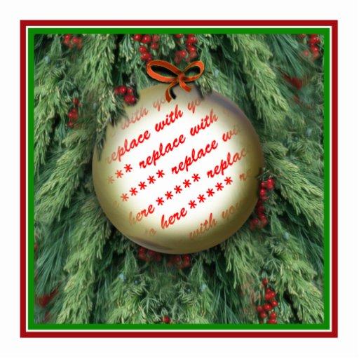 Marco de la foto del ornamento del árbol de navida fotoescultura vertical