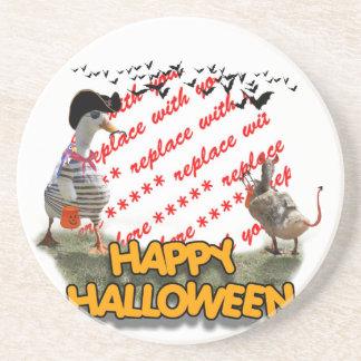 Marco de la foto del pato del pirata de Halloween Posavasos Personalizados