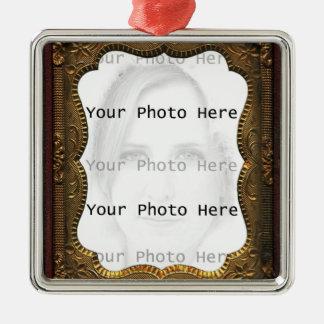 Marco de la foto del vintage ornamentos de navidad