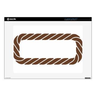 Marco de la frontera de la cuerda de Brown 38,1cm Portátil Calcomanía