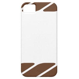 Marco de la frontera de la cuerda de Brown iPhone 5 Carcasa