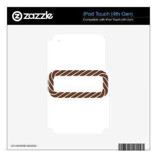 Marco de la frontera de la cuerda de Brown iPod Touch 4G Skin
