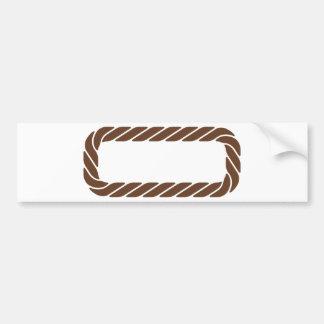 Marco de la frontera de la cuerda de Brown Pegatina Para Auto