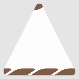 Marco de la frontera de la cuerda de Brown Pegatina Triangular