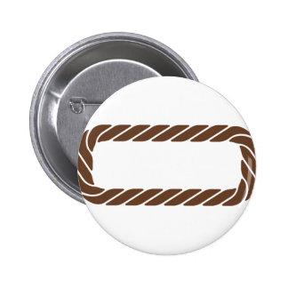 Marco de la frontera de la cuerda de Brown Pin Redondo De 2 Pulgadas