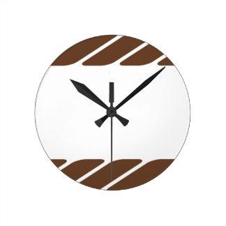 Marco de la frontera de la cuerda de Brown Reloj Redondo Mediano