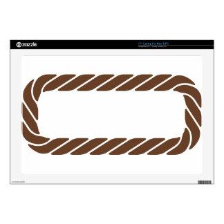 Marco de la frontera de la cuerda de Brown Skins Para 43,2cm Portátil