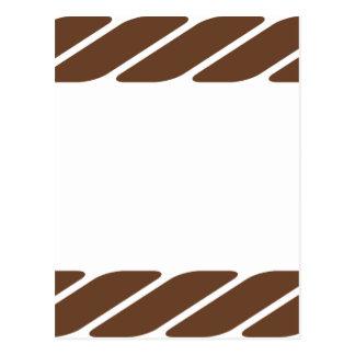 Marco de la frontera de la cuerda de Brown Tarjetas Postales