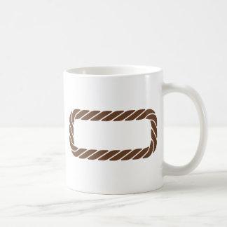Marco de la frontera de la cuerda de Brown Taza Clásica