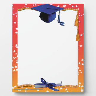 Marco de la graduación placas de madera