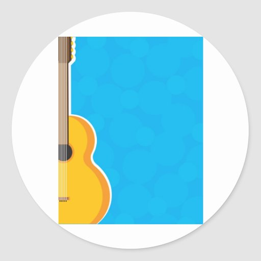 Marco de la guitarra etiquetas redondas