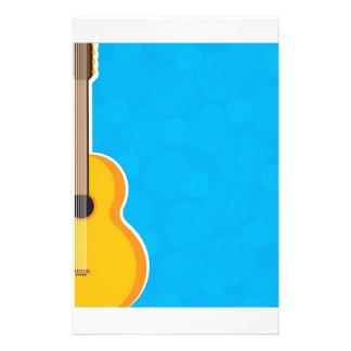 Marco de la guitarra papeleria personalizada