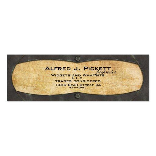 Marco de la placa de cobre amarillo tarjetas de visita mini