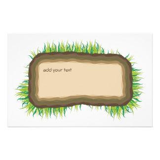 marco de la sección representativa de la hierba tarjetas informativas