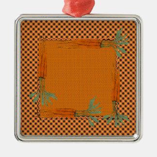 Marco de la zanahoria, modelo de la guinga, puntos adorno navideño cuadrado de metal