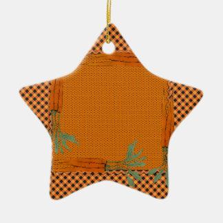 Marco de la zanahoria, modelo de la guinga, puntos adorno navideño de cerámica en forma de estrella