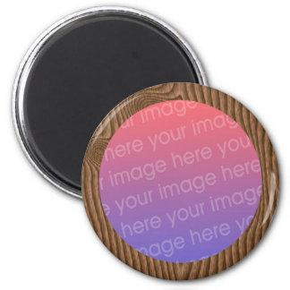 marco de madera de la foto del grano imanes de nevera